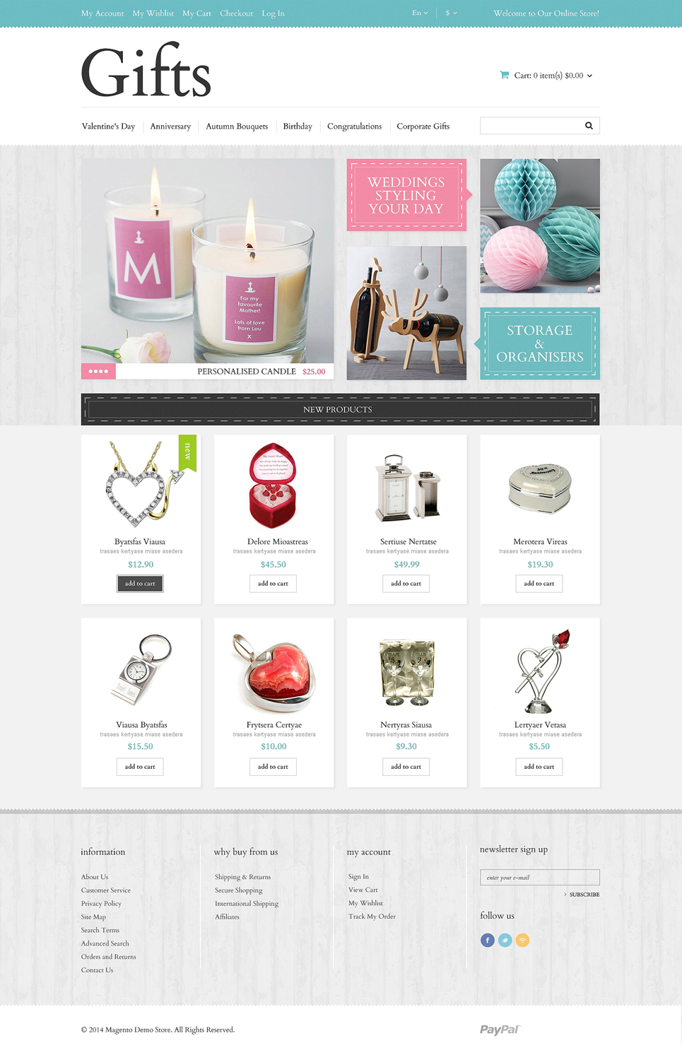 Gifts store responsive magento theme 49061 for Best website for gifts