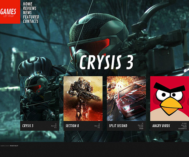 Games Website Template with Vivid Imagery - image