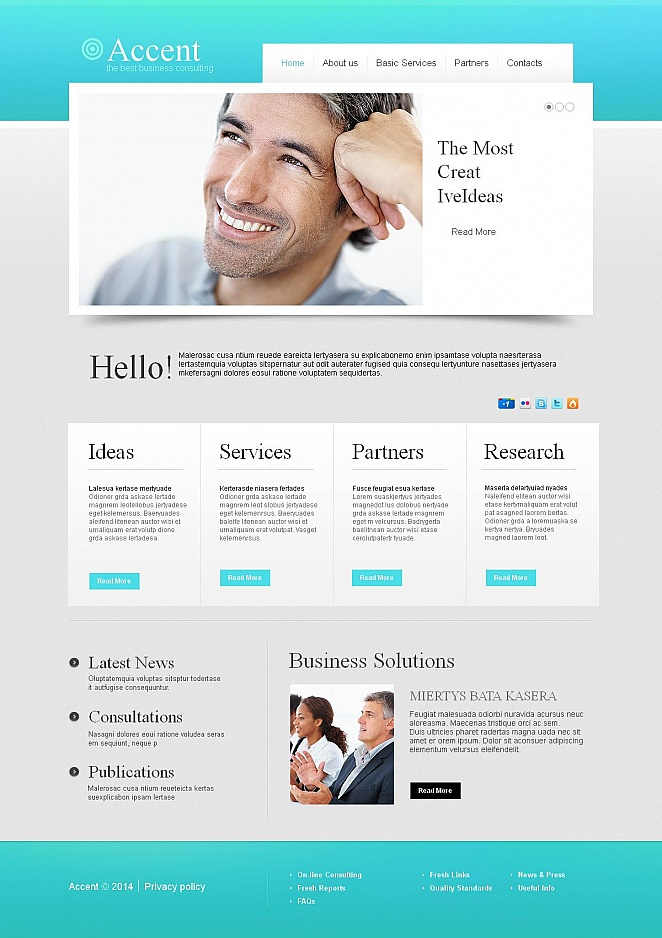 Business Consulting Web Template with Customizable Design - image