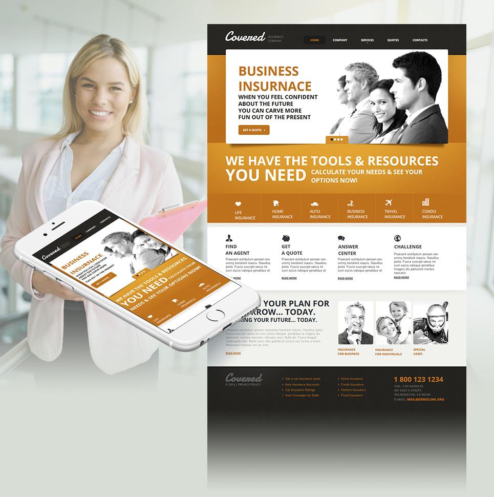 Car Insurance Website Template - image