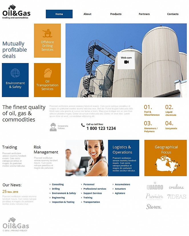 Oil and Gas Business Website Template - image