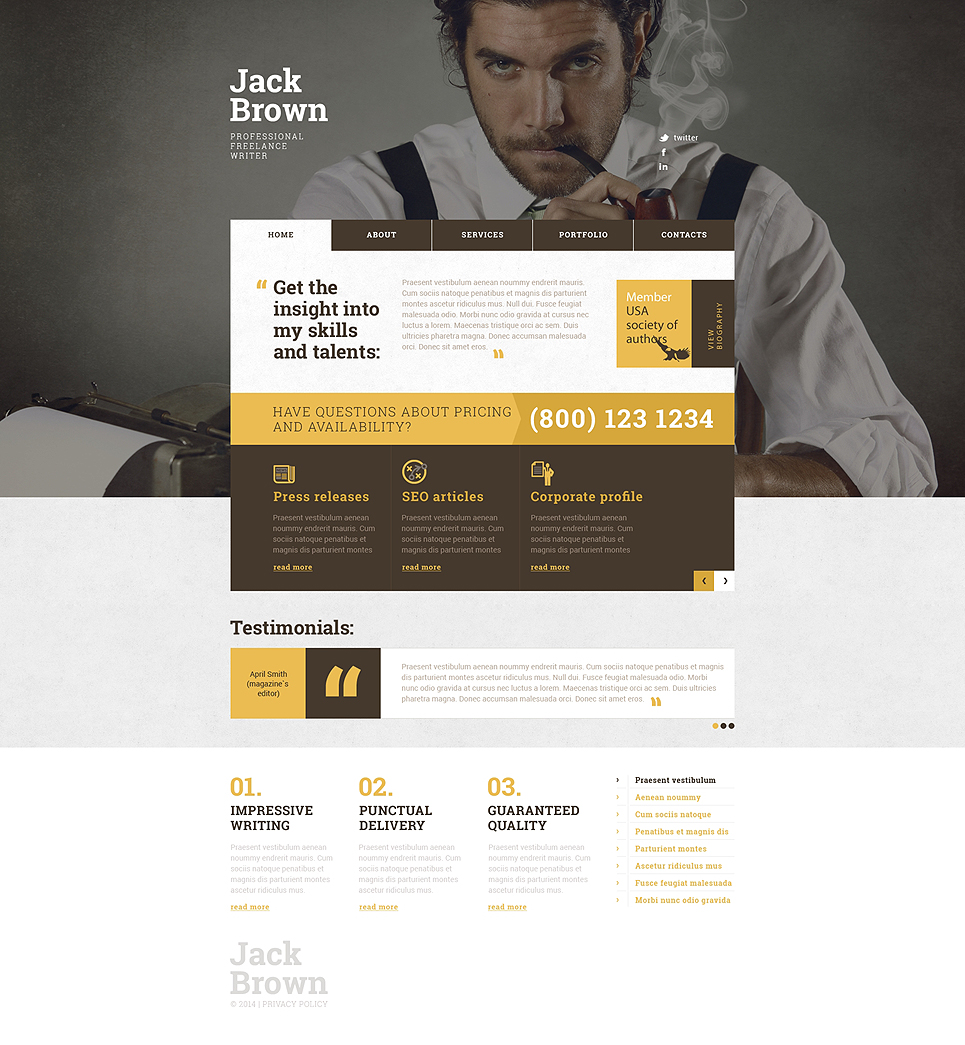 15 business templates for freelancer websites personal page responsive website template pronofoot35fo Image collections
