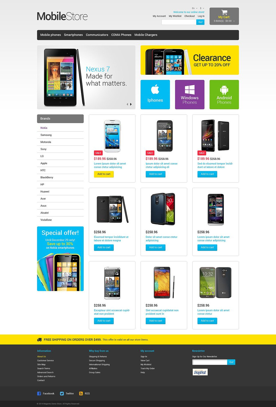 Awesome Mobile Store Responsive Magento Theme