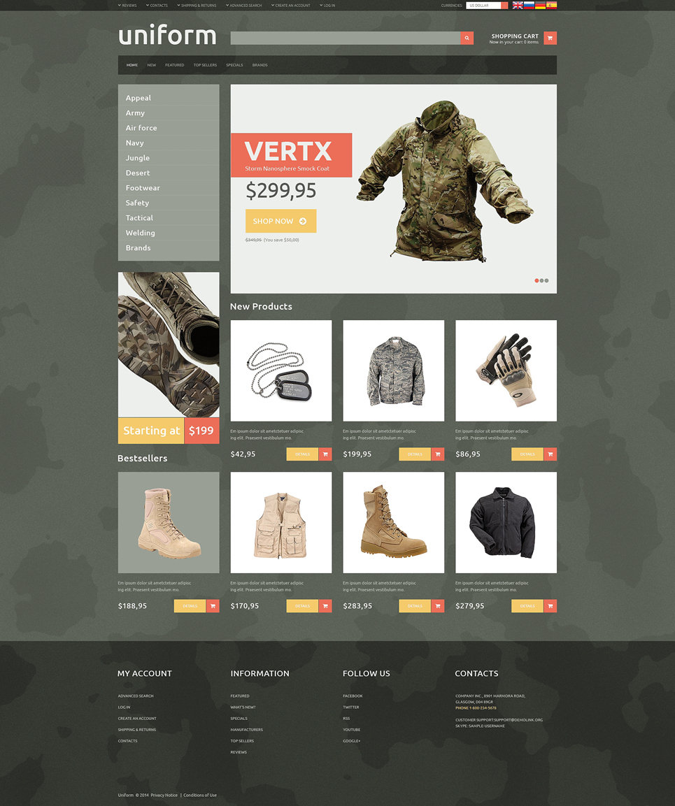 Majestic Looking Fashion Online OSCommerce Template
