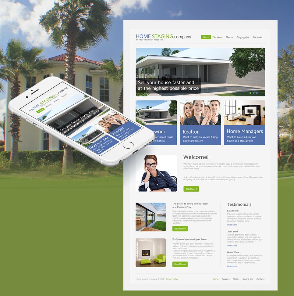 Flexible Homepage-Vorlage für moderne Immobilienagenturen - image