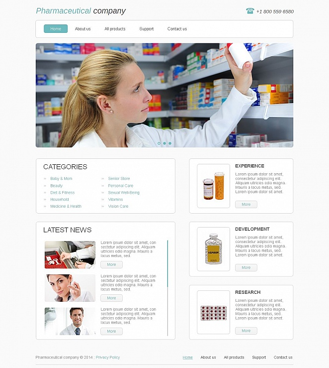 Pharmacy Website Template with White Background - image