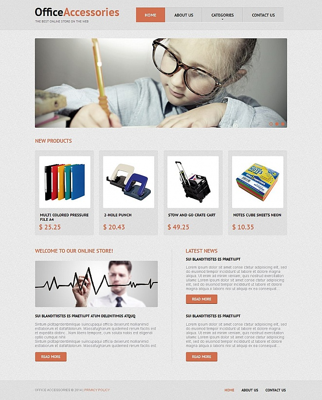 Office Desk Accessories Website Template - image