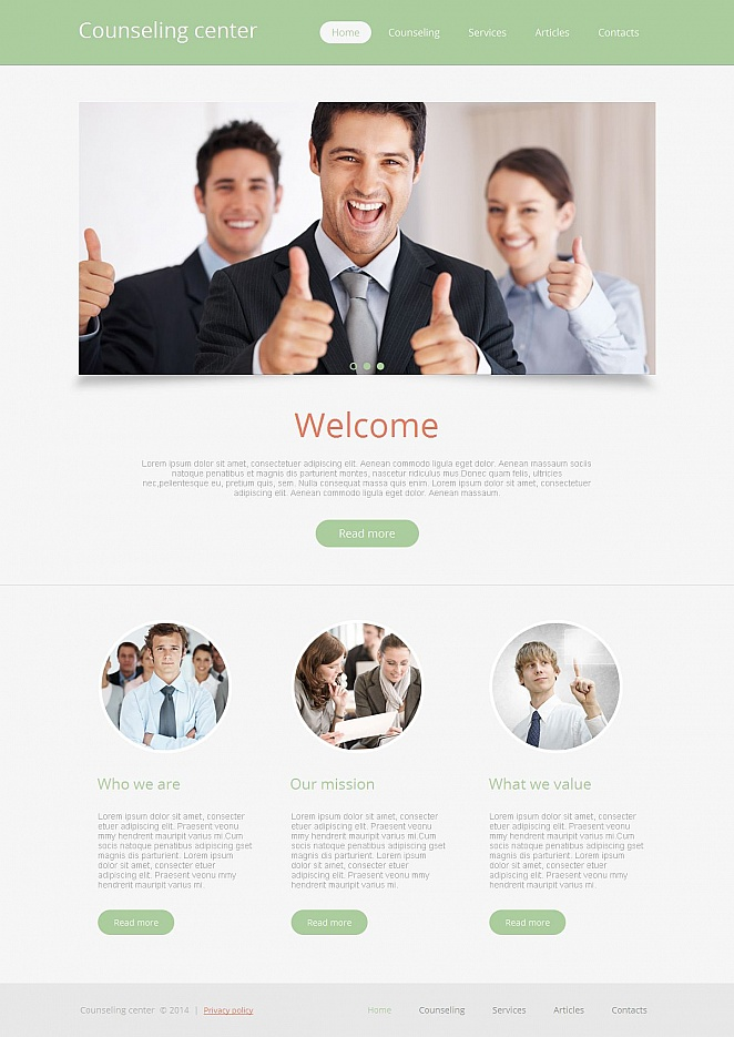 Counseling Firm Website Template - image