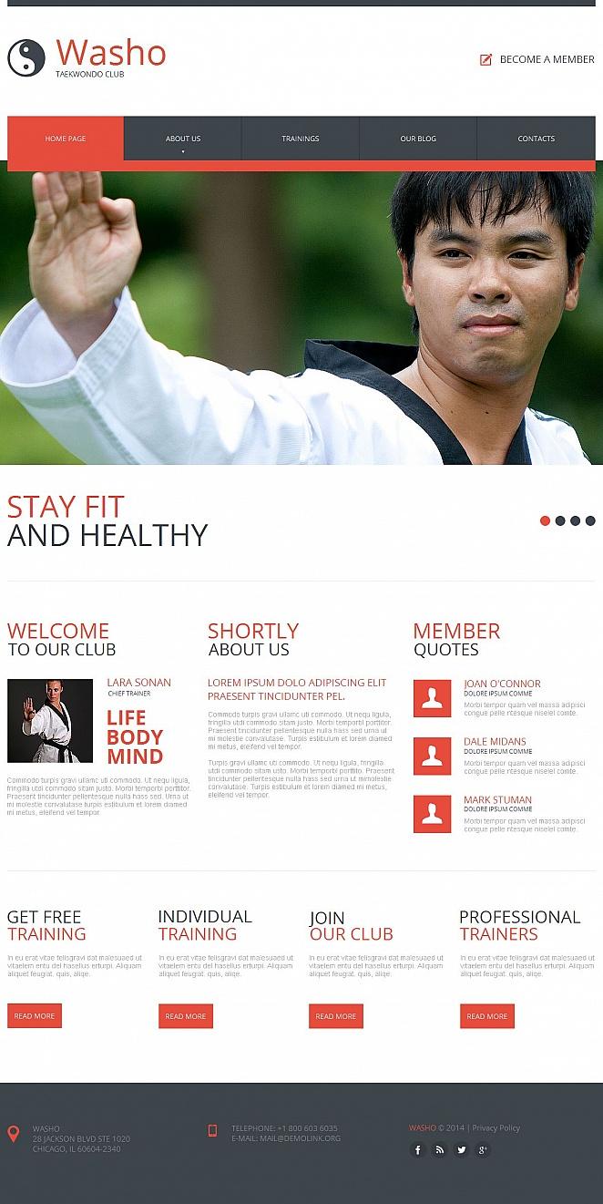 Taekwondo Website Design with CMS - image
