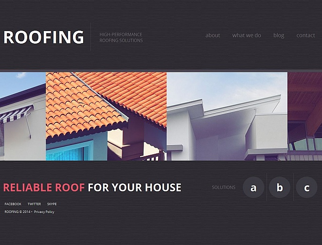 Roofing Web Template with Home Page Sliding Gallery - image