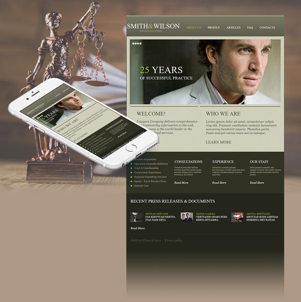 Law Website Design with an Image Slider - image
