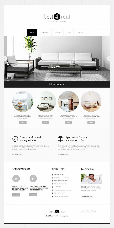 Homepage-Vorlage in minimalistischem Stil für eine Immobilienagentur - image