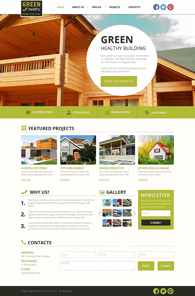 Sustainable Architecture Website Template - image