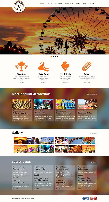 Ansprechende Homepage-Vorlage für einen Freizeitpark - image