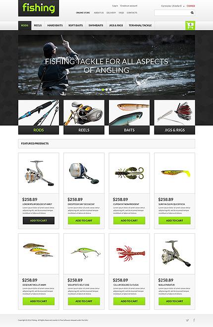 рыболовный шаблон для сайта