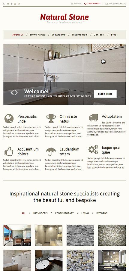 Decor Themes Wordpress Stone Decor Wordpress Theme