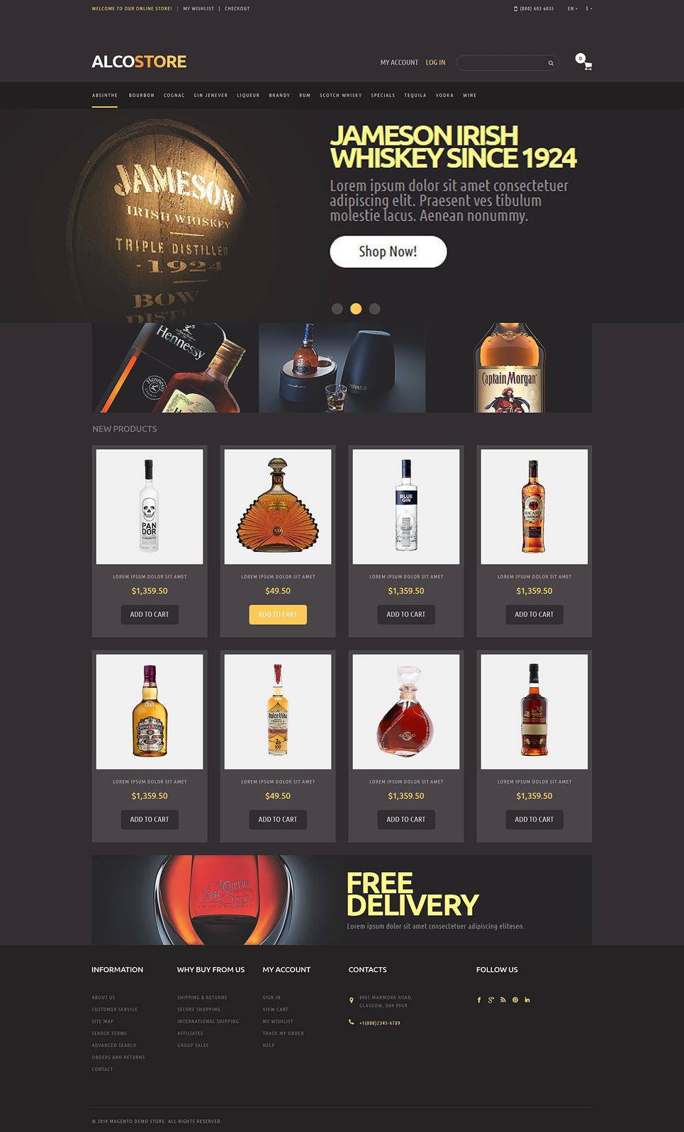 Alcoholic Beverages web theme's image