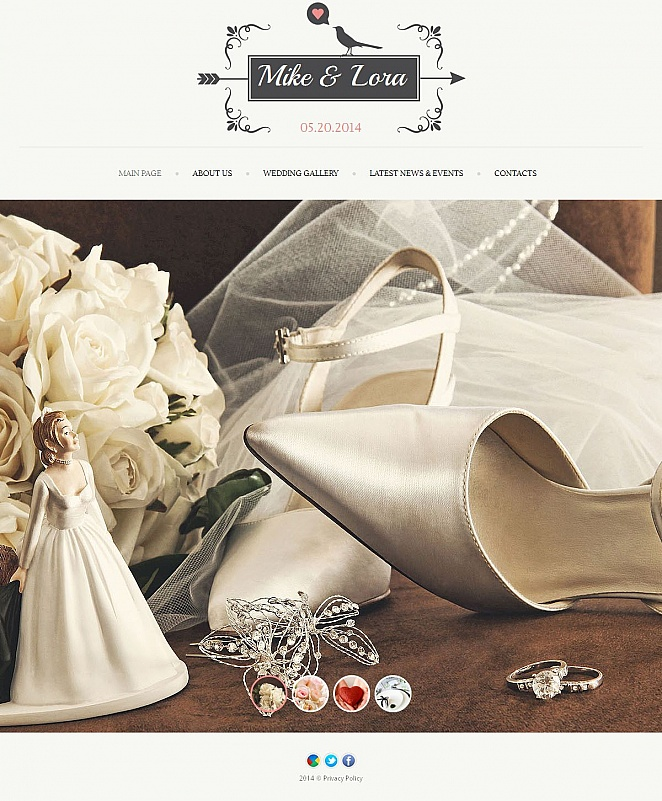 Wedding Website Template with User-Friendly CMS - image