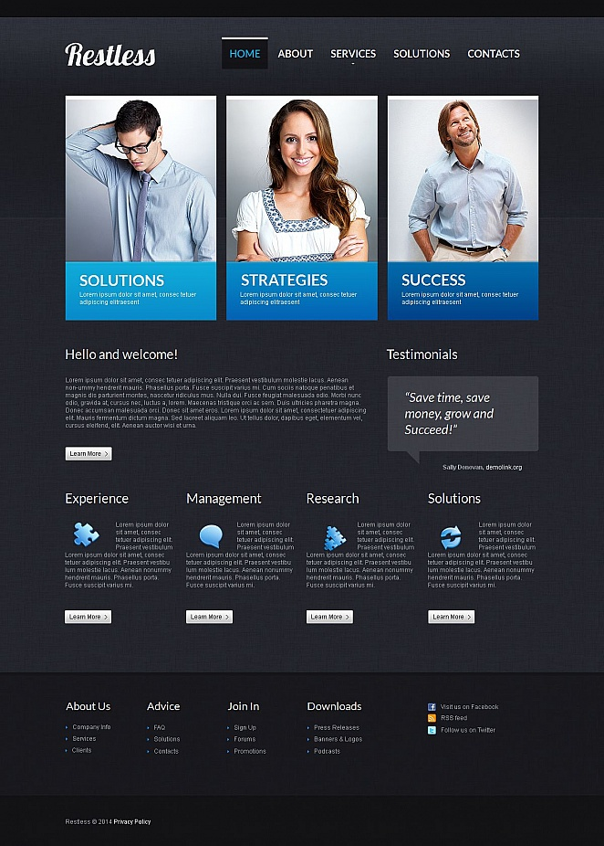 Creative Business Website Design with CMS - image