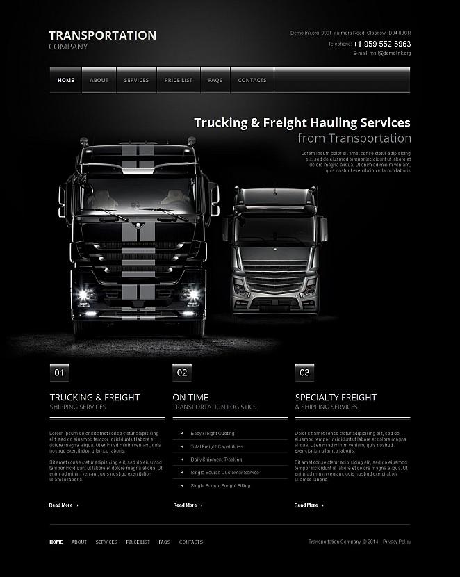 Webvisitenkarte für ein Verkehrsunternehmen - image