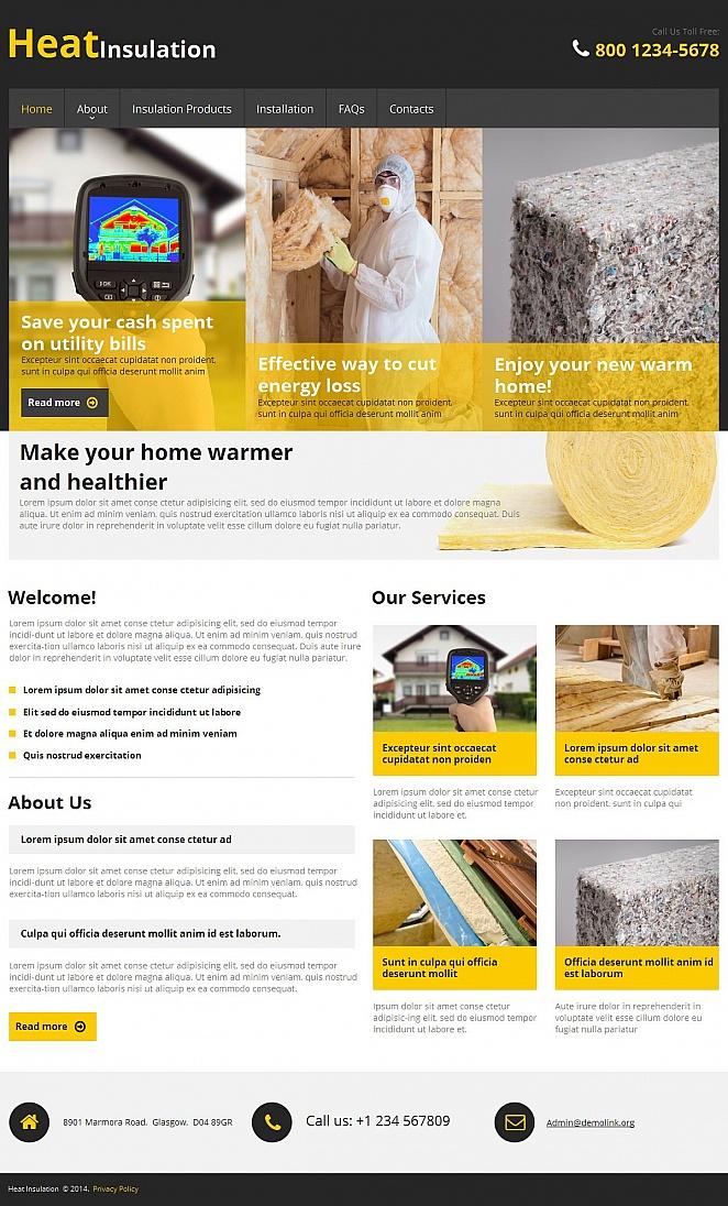 Сайт-визитка для строительной компании - image