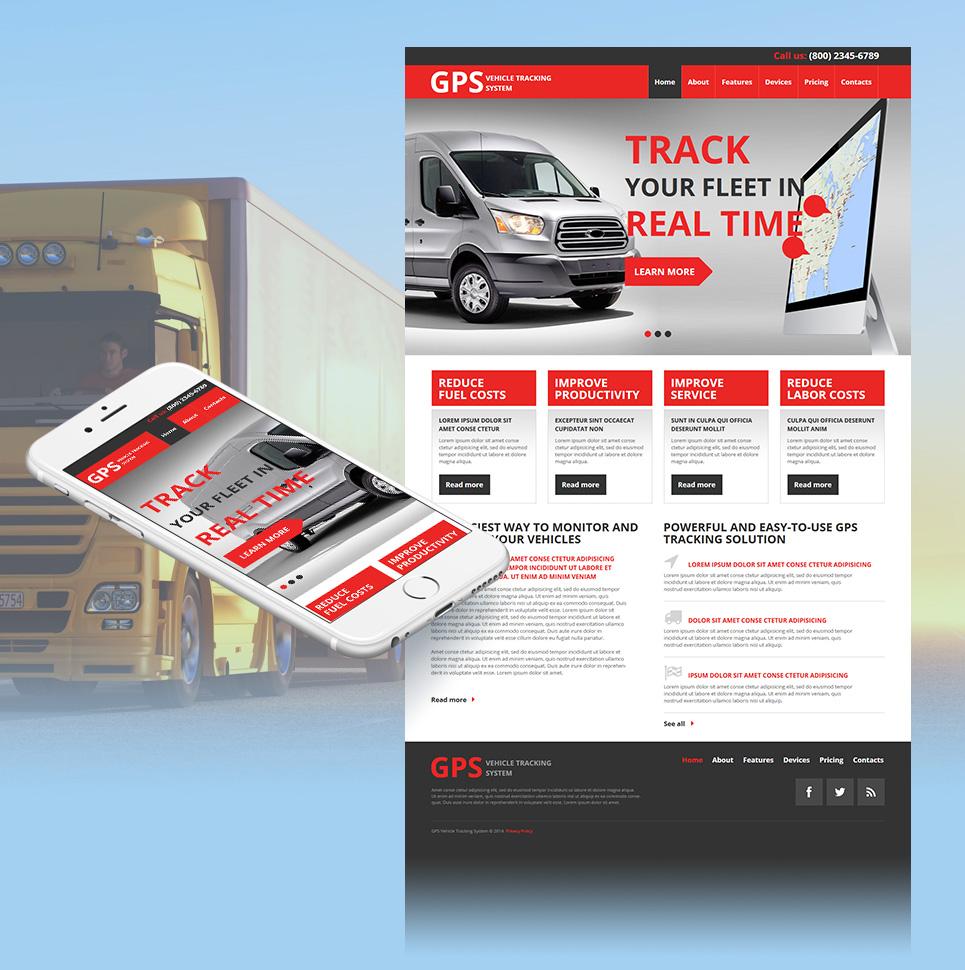 Сайт-визитка для продавца систем GPS-навигации - image