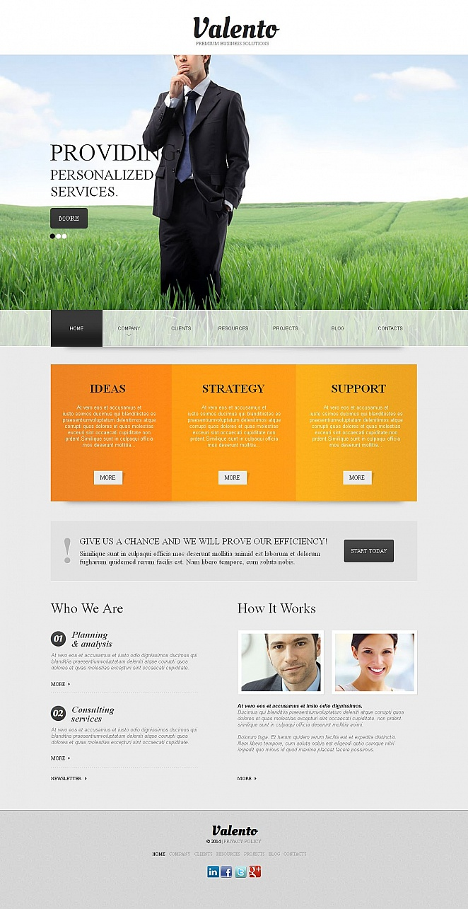 Business Website Template with Creative Image Slider - image