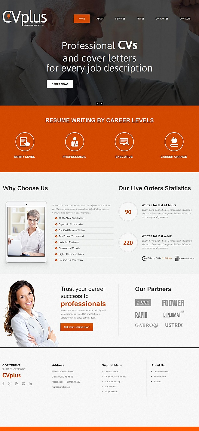 Marketing Agency Website Design with Orange Accents - image