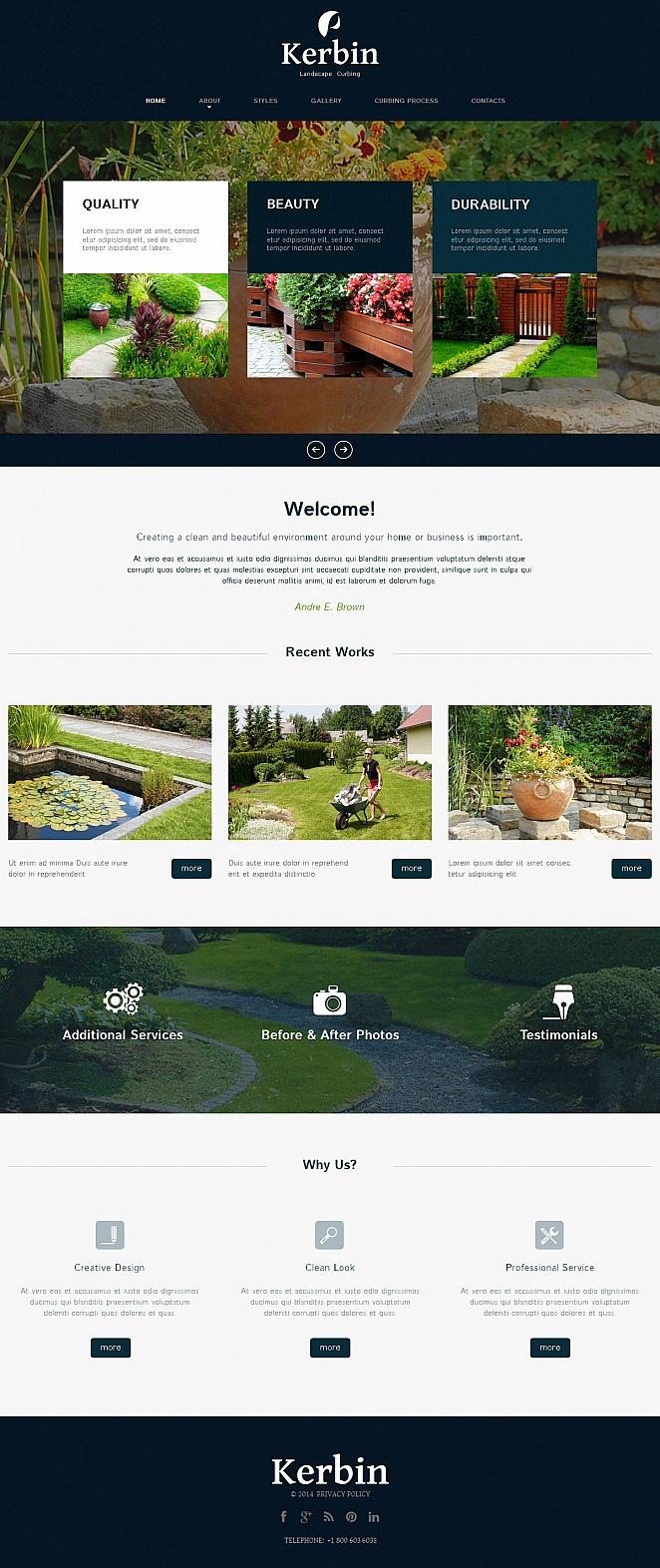 Webvisitenkarte für einen Landschaftsdesigner - image