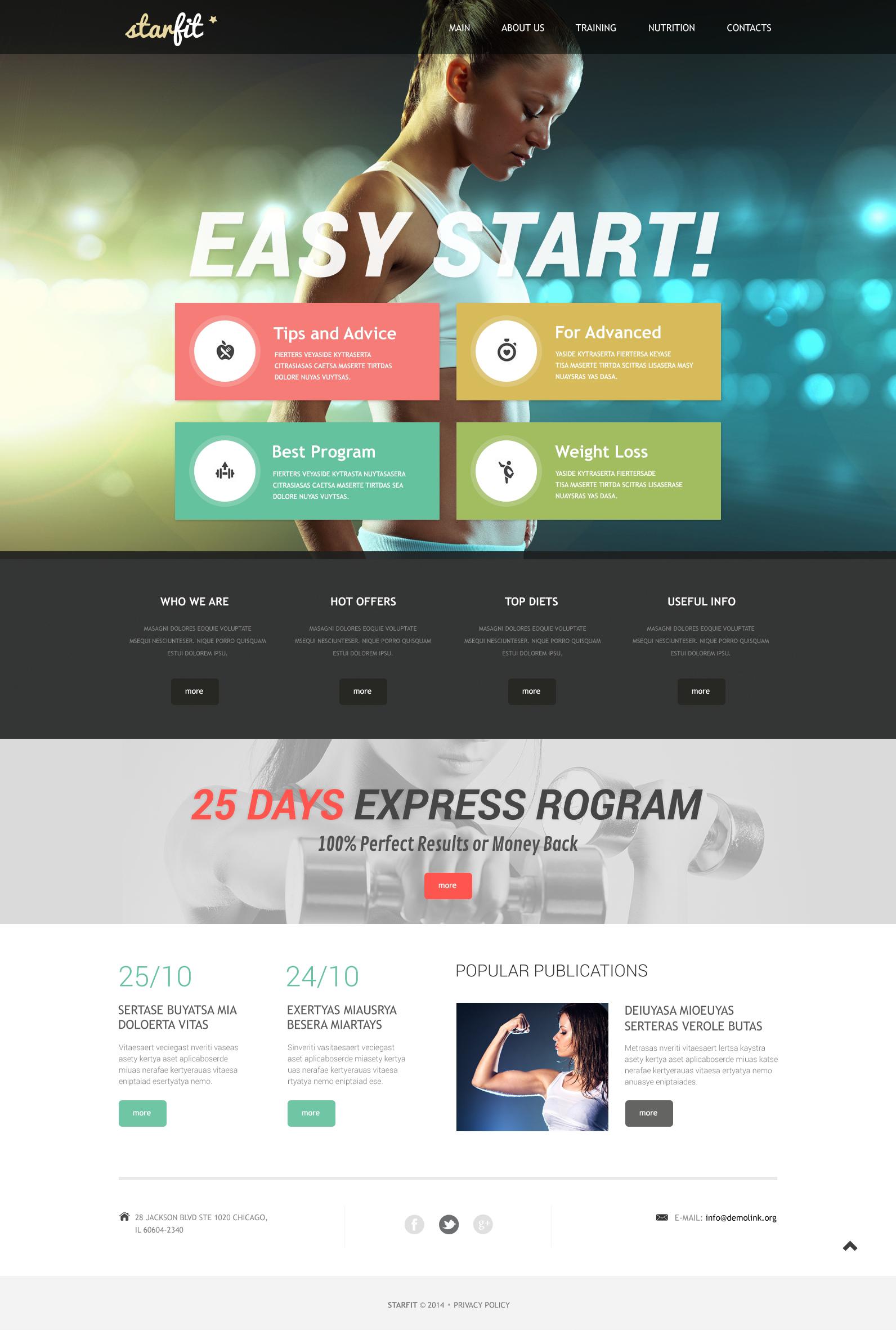 website vorlage 49639 f r fitness