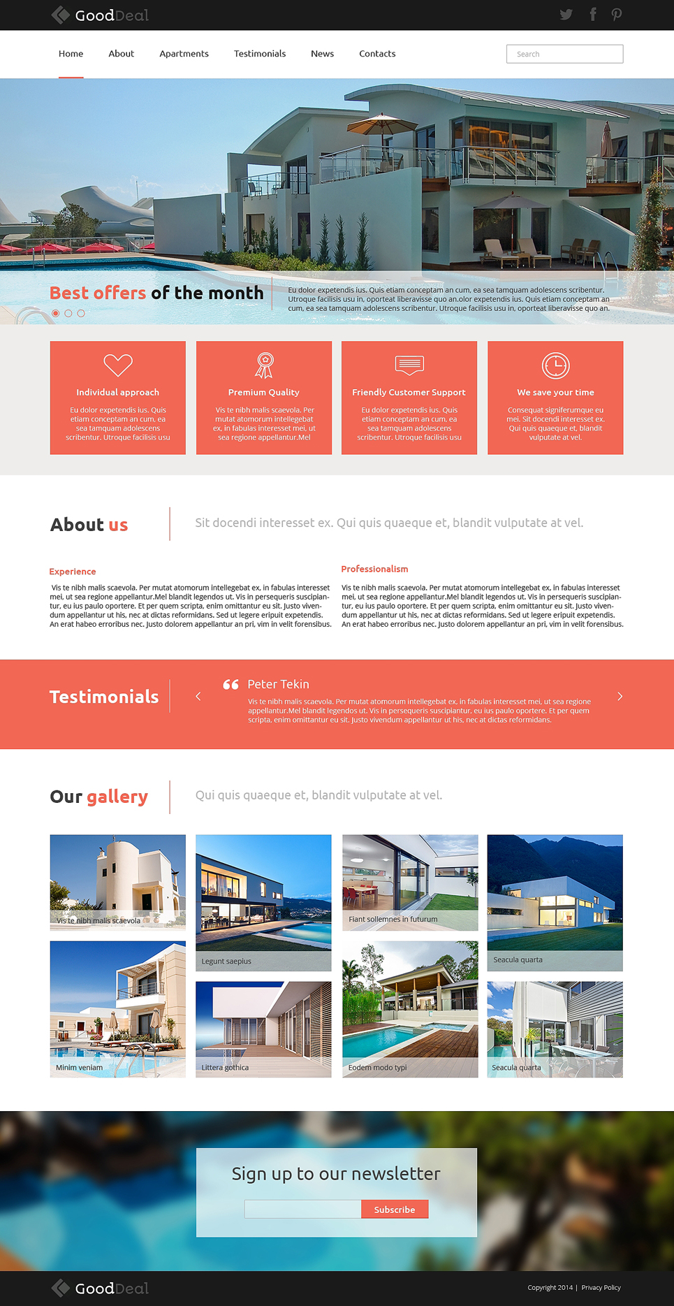 Neat Apartments for Rent Joomla Template