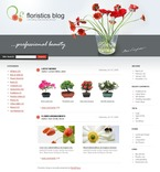 49703 Flowers, WordPress Themes, Wide Templates PSD Templates