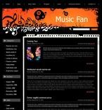 49719 Music, WordPress Themes, Wide Templates PSD Templates