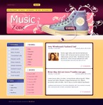 49724 Music, WordPress Themes, Wide Templates PSD Templates