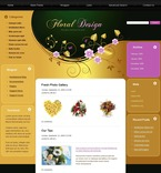 49782 Flowers, WordPress Themes, Wide Templates PSD Templates