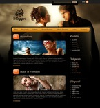 49815 Music, Personal Pages, Most Popular, WordPress Themes, Wide Templates PSD Templates