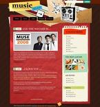 49829 Music, WordPress Themes, Wide Templates PSD Templates