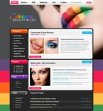 49837 Beauty, WordPress Themes, Wide Templates PSD Templates