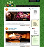 49851 Web Design, Low Budget, Personal Pages, WordPress Themes, Wide Templates, St. Patrick Green Templates PSD Templates