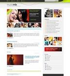 49919 Music, WordPress Themes, Wide Templates PSD Templates