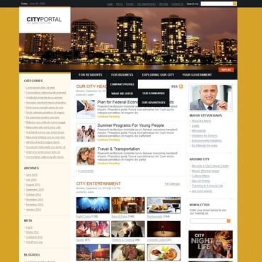Buy Premium Responsive PSD Templates. Template #50003. ArtelWEB Template Store Online.