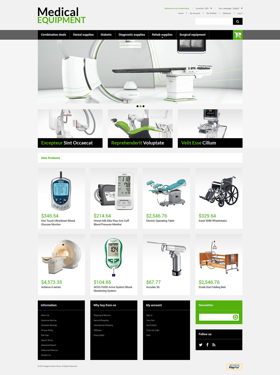 The Medical Equipment Magento Theme