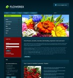 50419 Flowers, Wide Templates, Joomla Templates PSD Templates