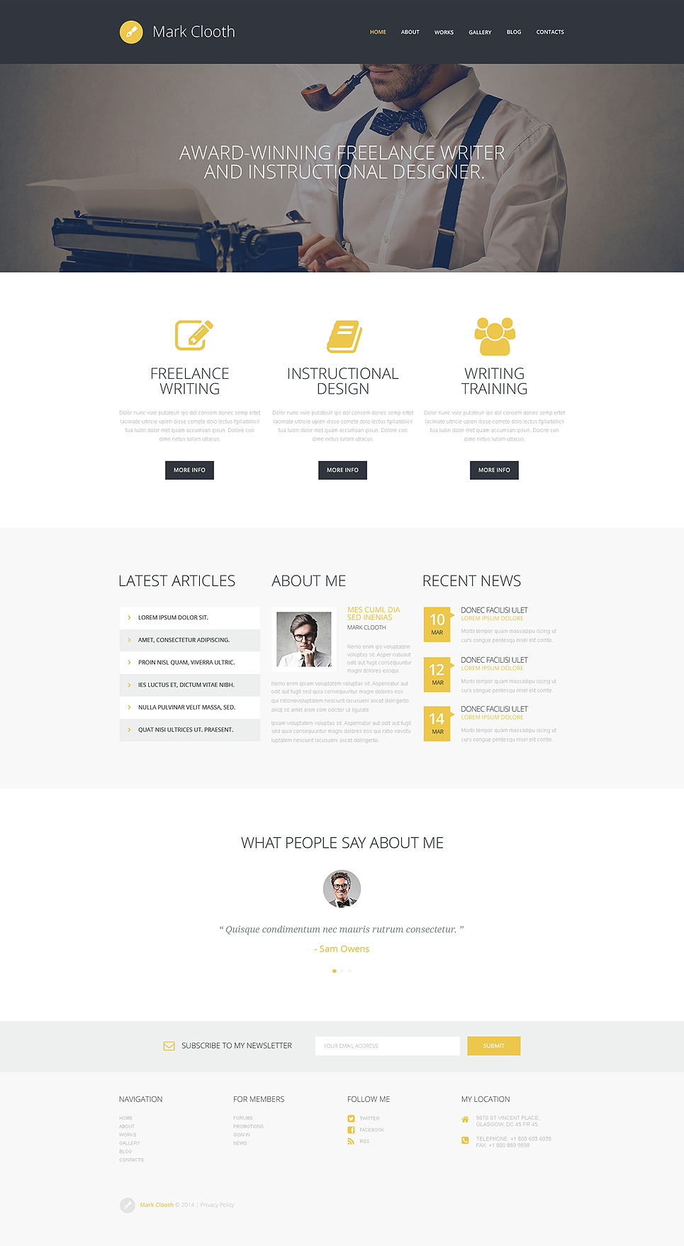 Top 15 personal profile wordpress themes wp daily themes online presence of freelancers wordpress theme magicingreecefo Gallery