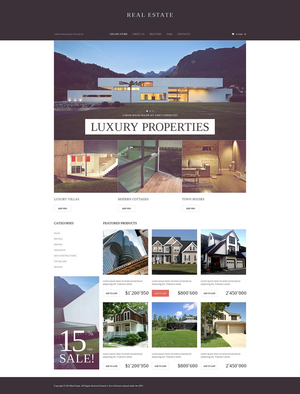 Real Estate Agency VirtueMart Template
