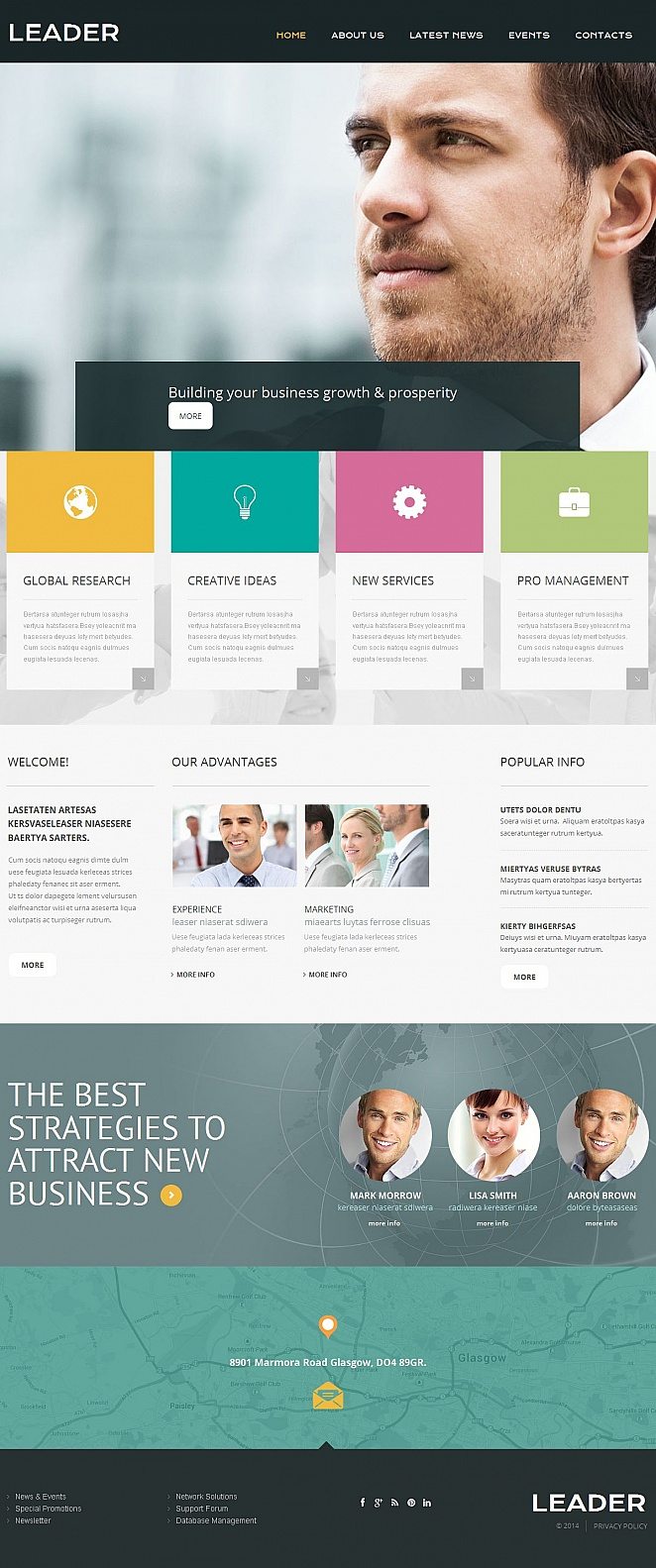 Visual-Rich Business Website Template - image