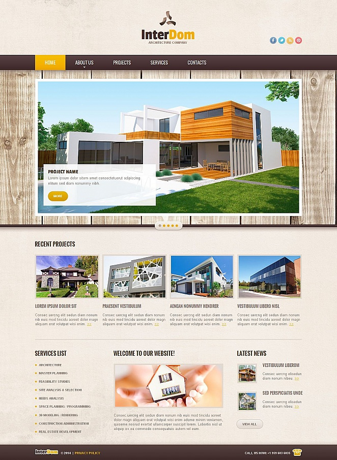Architecture Web Template with Creative Textured Design - image