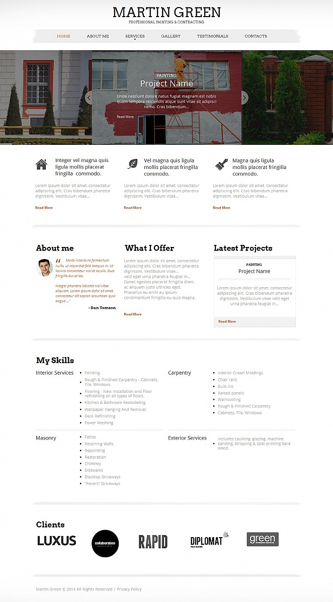 Repairs and Maintenance Website Template with CMS - image