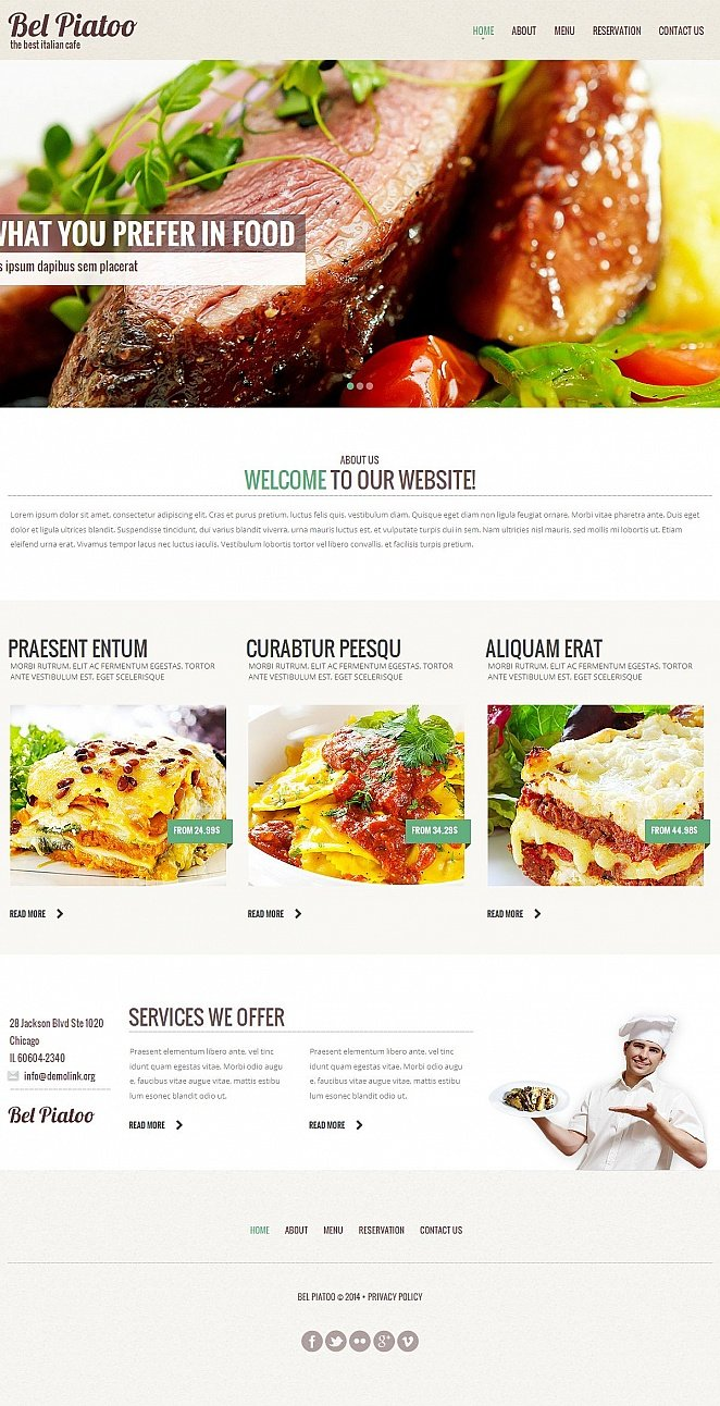 Cafe Website Design with Large Hero Images - image