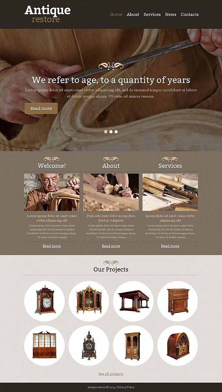 HTML Homepage-Vorlage für Restaurierung von Antiquitäten - image